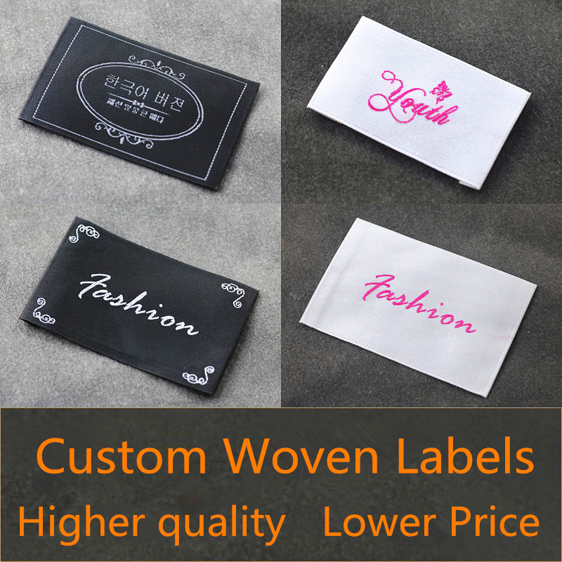 1000pcs garment accessories loop fold clothing labels for T shirt tags wholesale