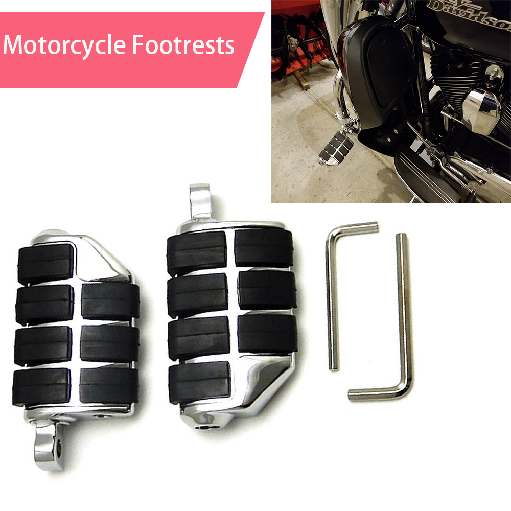 For Sportster XL883 XL1200 Motorcycle Footrests XL 883 Softail Floor Boards Footpeg Foot Pedals Chrome For Honda GOLDWING GL1500