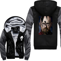 Breaking Bad Heisenberg Print Fashion Hipster Punk 2018 New Winter Thicken Hoodie Jackets Brand High Quality Sweatshirt For Male
