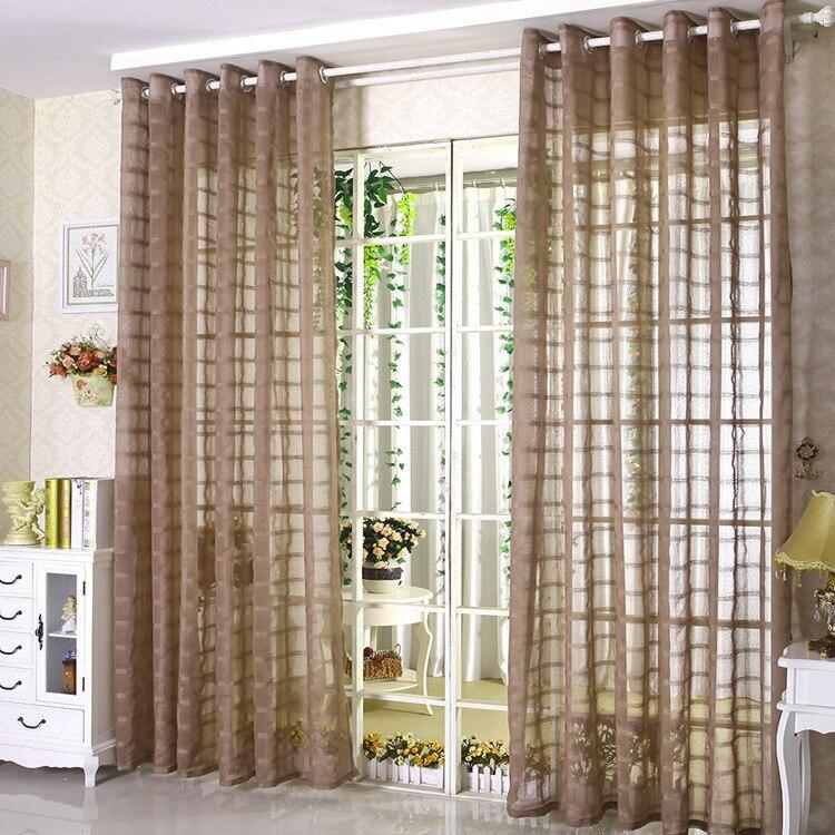 Gordijnen balkon tulle mooie gordijn eenvoudige cortinas para sala ...