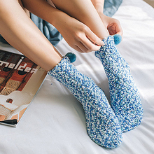 New Women Winter Thicken Knitted Thermal Socks Cake Creative Cotton Warm Without Box Explosion Modelscute