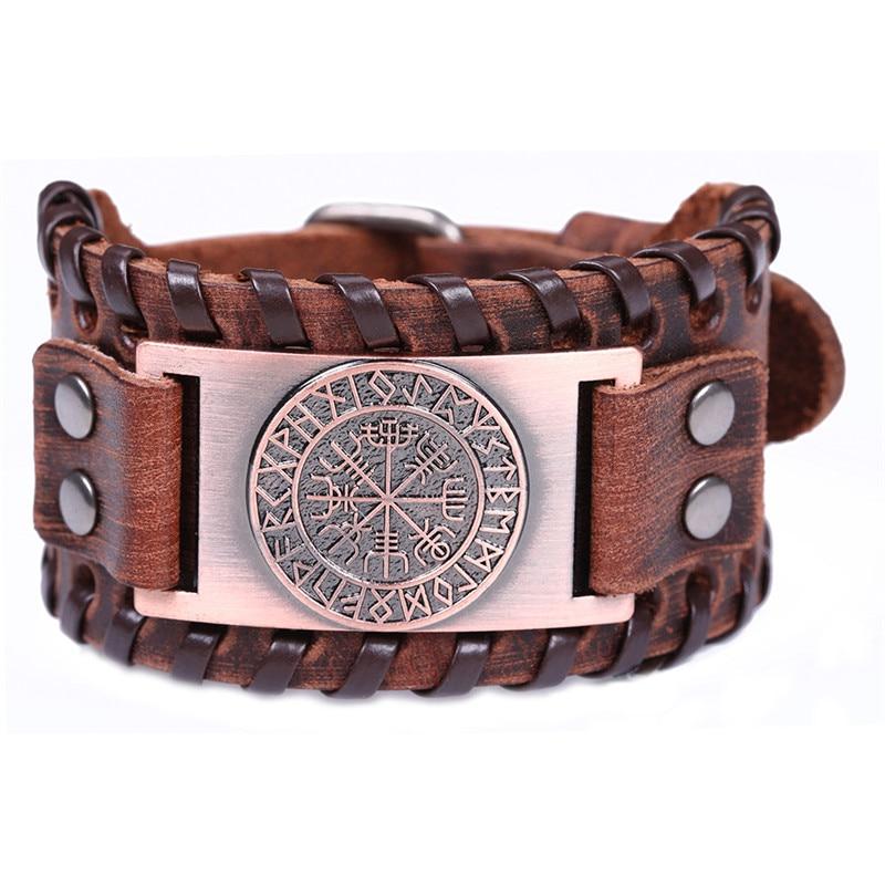 Bracelet cuir viking Odin  4