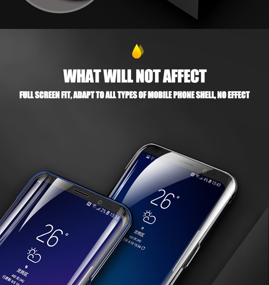 9 For Samsung Galaxy S8 S8 Plus Screen Protector For Samsung Galaxy S9 S9 Plus Screen Protector For Samsung Galaxy Note 8 Screen Protector For Samsung S6 S7 EDGE screen Protector