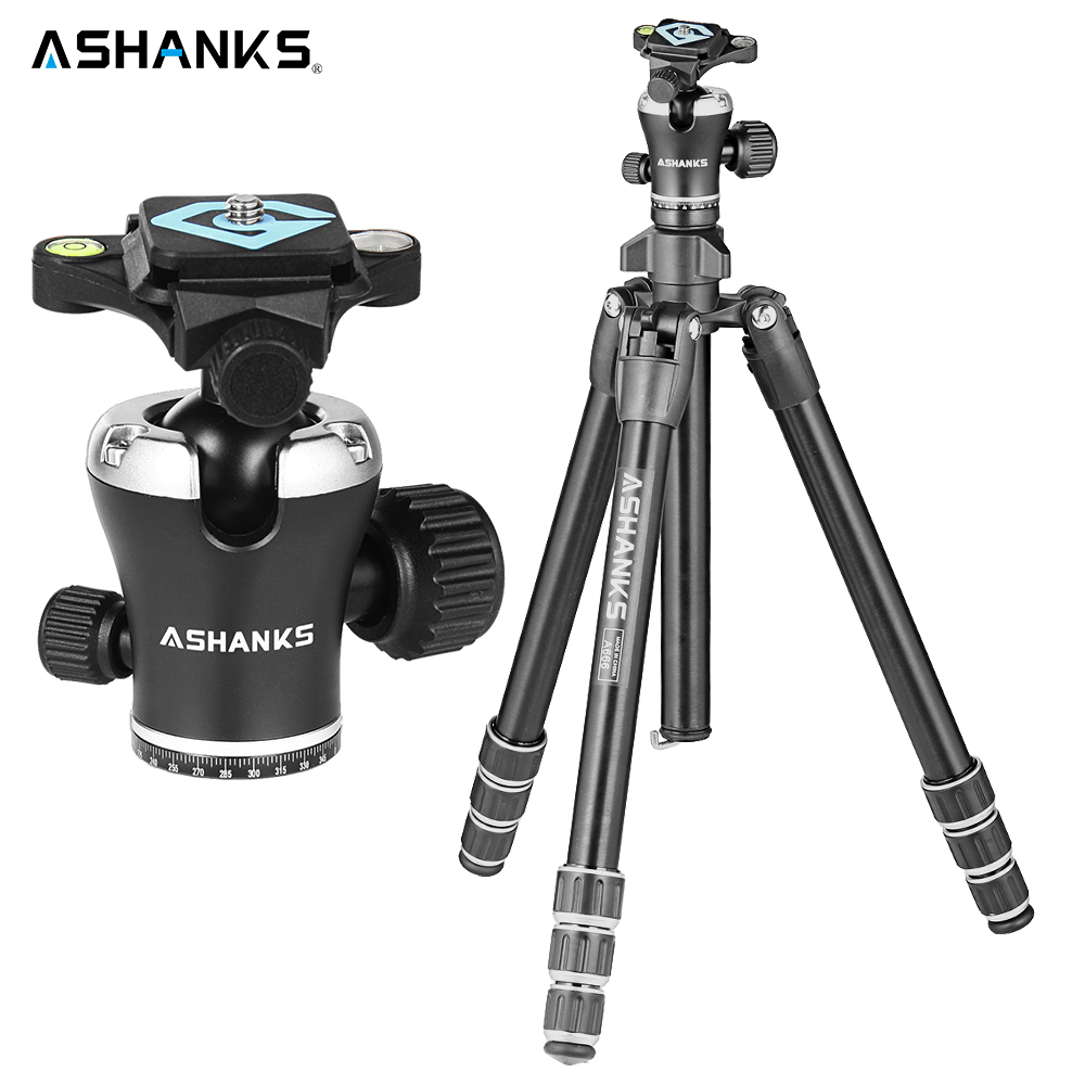 ASHANKS A666 Tripod Camera 55.9''/142cm Professional Video Travel Camera Tripod Aluminum Ball Head Compact for Digital SLR DSLR free shipping matton t 254 bm 10 professional photographic travel compact aluminum tripod for digital video mirrorless camera