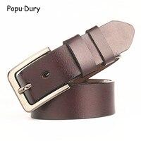 Popu Dury Men 100 Pure Cowskin Lether Belt Men Special Length Size 170cm Luxury Straps Formal