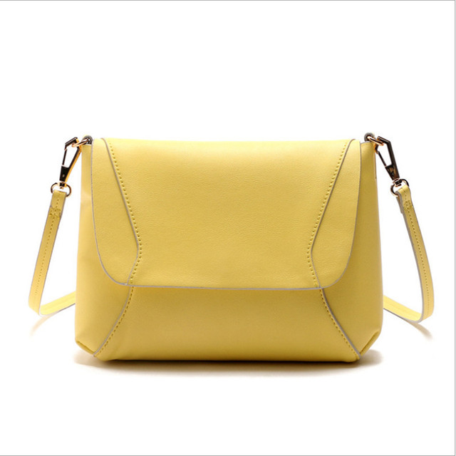 2017 High Quality Women Handbags Pu Leather Bags Yellow Las Brand Bucket Shoulder Bag Small Vintage