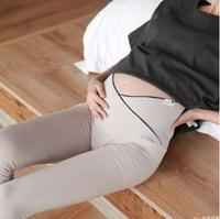 9/10 Length Cross Elastic Maternity Leggings 2019 Summer Autumn Fashion Low-waist Modal Belly Pants for Pregnant Women SH-28P