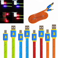 Hot Small yellow duck emission light data line Micro USB Cable, Charger Data Sync USB Cable Cord For Samsung Galaxy Cell phones