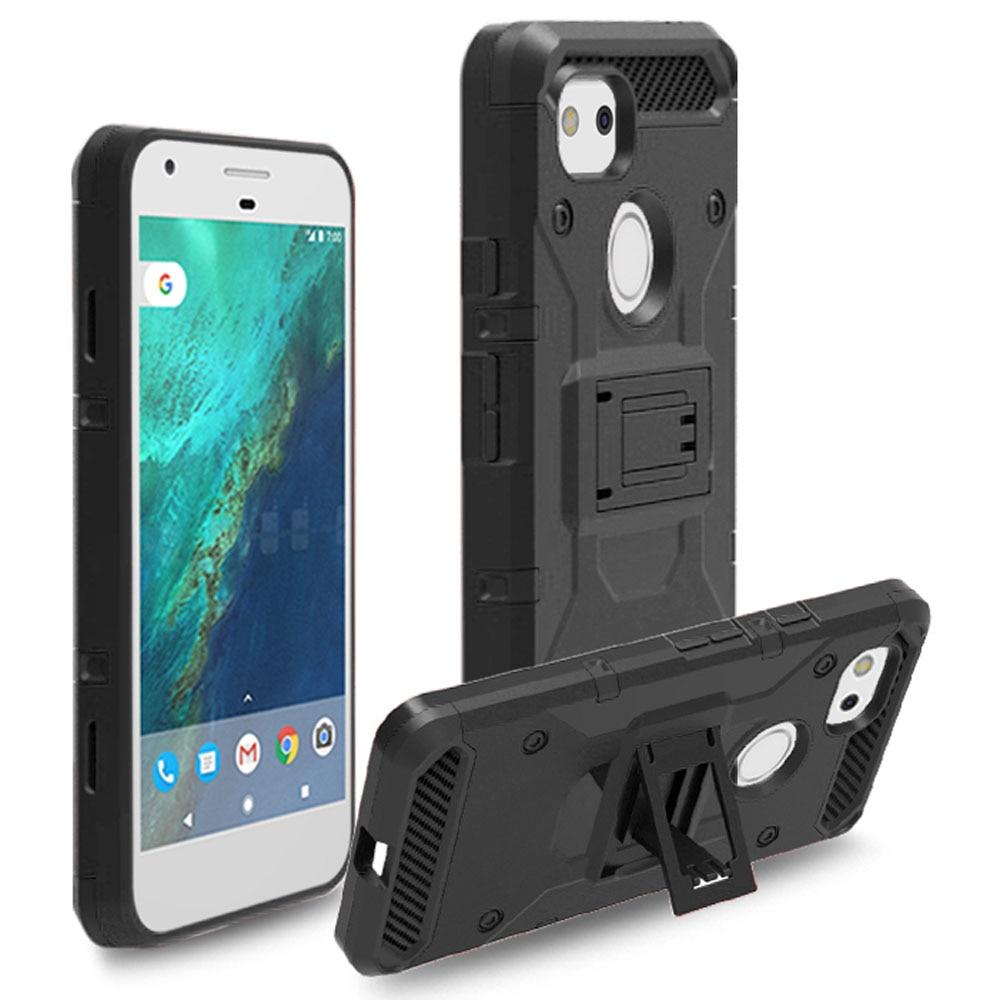 finest selection d54f6 d0ede Case For Google Pixel 2 XL Hybrid Armor Case With Belt Clip Heavy Duty Hard  Shockproof Holster Case Cover For Google Pixel 2 XL