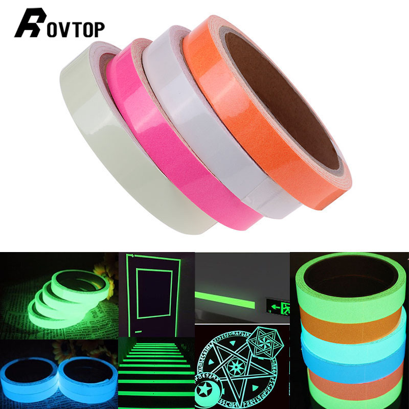 3M Luminous Tape Sticker High Luminance Glow Removable Waterproof Photoluminescent Glow in The Dark Safety Warning Tape