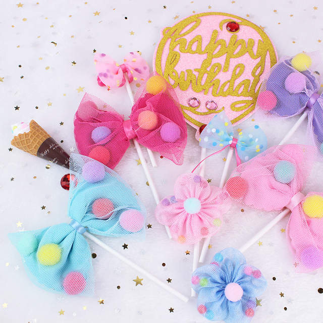 Online Shop Pink Jojo Siwa With Ball Birthday Cake Topper Cupcake Decoration Baby Shower Kids Party Wedding Favor For Princess