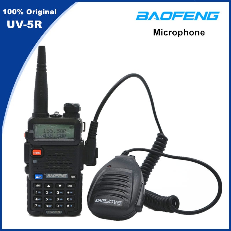 Baofeng Original Portable CB Radio Microphone Speaker Handheld Mic PTT For Walkie Talkie UV5R BF-888S UV-8D UV-5R Pro UV-82 H9