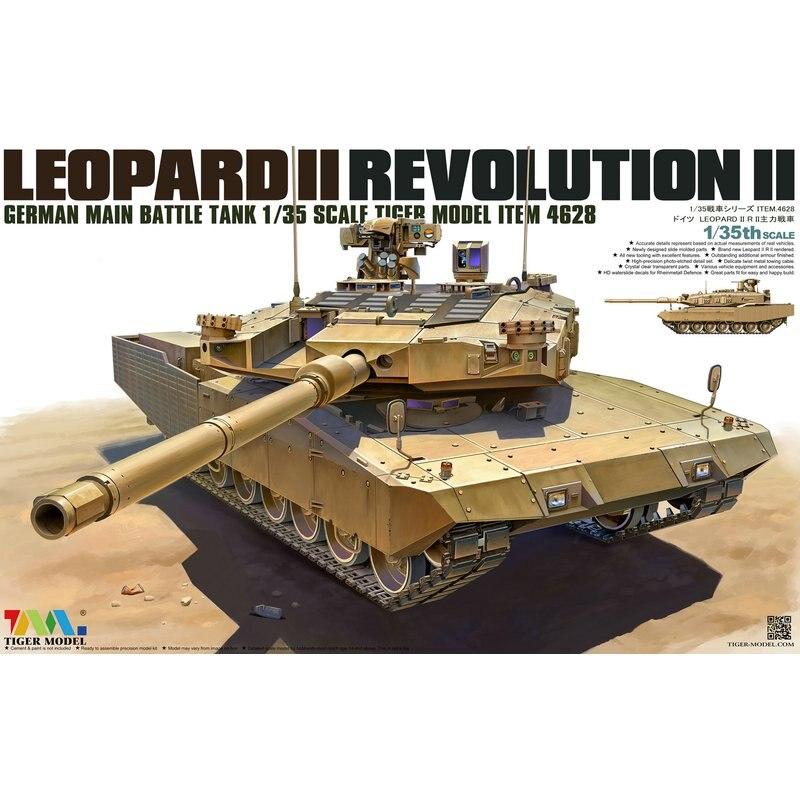Tiger Model 4628 1 35 German Main Battle Tank Leopard II Revolution II Scale Model Kit