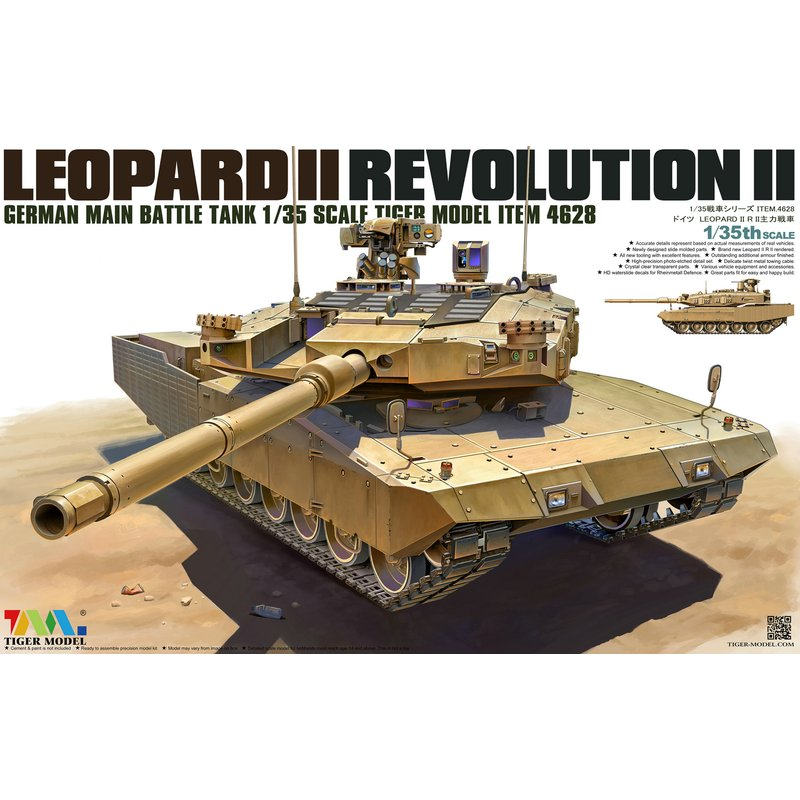 Tiger Model 4628 1/35 German Main Battle Tank Leopard II Revolution II   Scale Model Kit-in Model Building Kits from Toys & Hobbies    1