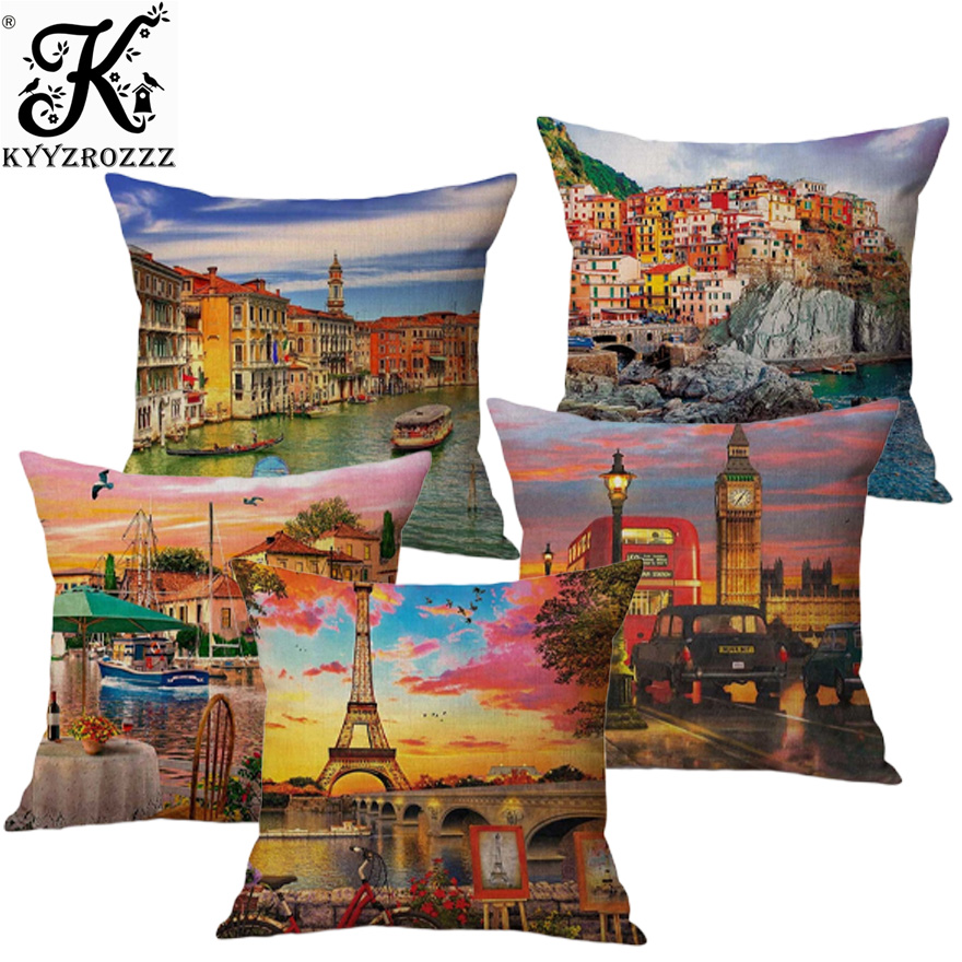 london street sign Long Cushion Covers Pillow Cases Home Decor or Inner