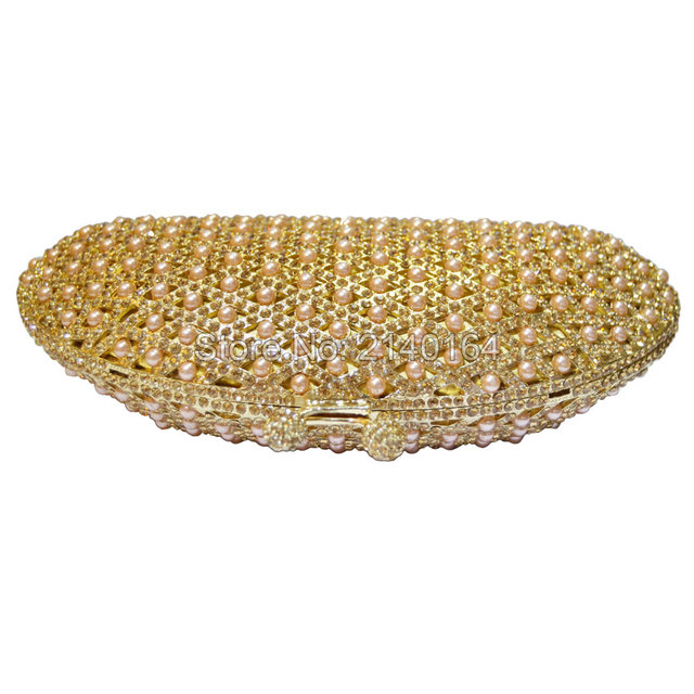 New Women's Beaded, Oval Shaped Evening Bag