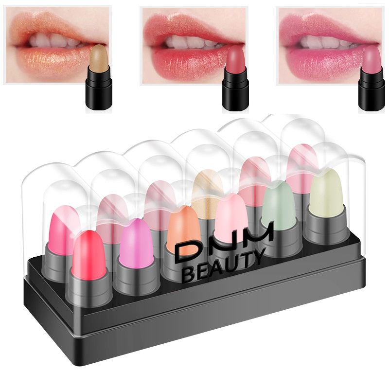 12 Colors Mini Moisturizing <font><b>Matte</b></font> <font><b>Lipstick</b></font> <font><b>Set</b></font> Women Maekup Long Lasting Waterproof Lip Stick Cosmetics image