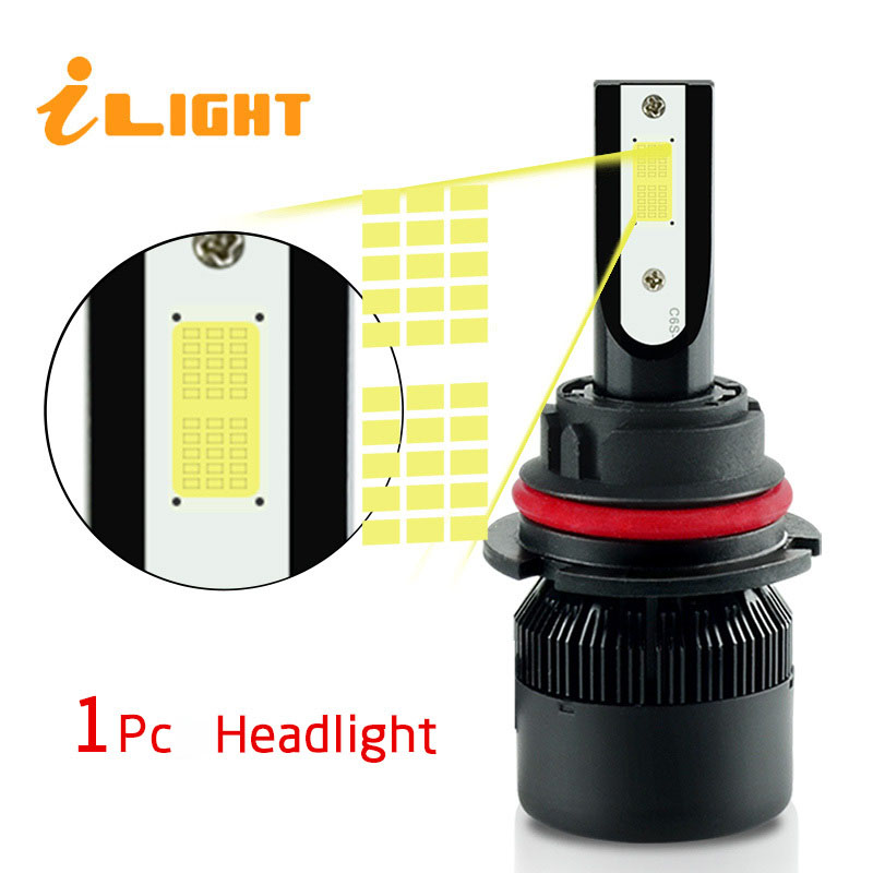 1x H4 led H7 led Bulb H11 led Car Headlights H4 Lamp HB3 9005 HB4 9006 H9 H1 H3 H8 H27 9007 H13 881 880 12V 24V Super White NAO