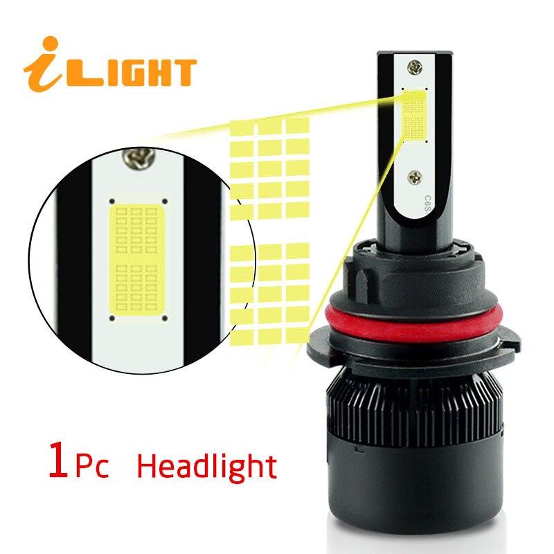 1x H4 led H7 led Bulb H11 led Car Headlights H4 Lamp HB3 9005 HB4 9006 H9 H1 H3 H8 H27 9007 H13 881 880 12V 24V Super White NAO