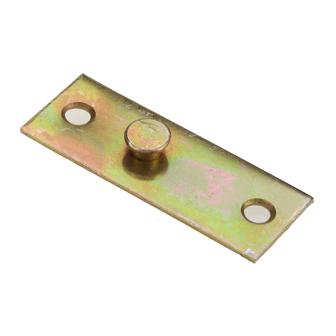 Mayitr 4pcs Brass Bracket Tone Furniture Wood Bed Rail Bracket Fittings Hook Plate Connector For Home Tool