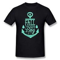 Hip Hop Novelty T Shirts Men S Brand Clothing Fall Out Boy Crown Logo T Shirt