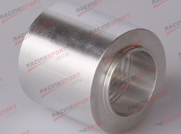 1/8 NPT Female Aluminum Weld on Bung Fitting Sensor Adapter round