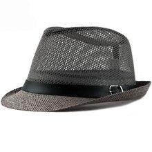 HT1603 2018 nueva moda mujeres hombres sombreros de verano sombrero de ala  ancha tapa de malla dbf6d84b9cf