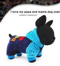 Bajila Fashion I love papa and mama winter Pet Dog Clothes Clothing For Pet Small Large Dog Coat Winter Clothes Jackets
