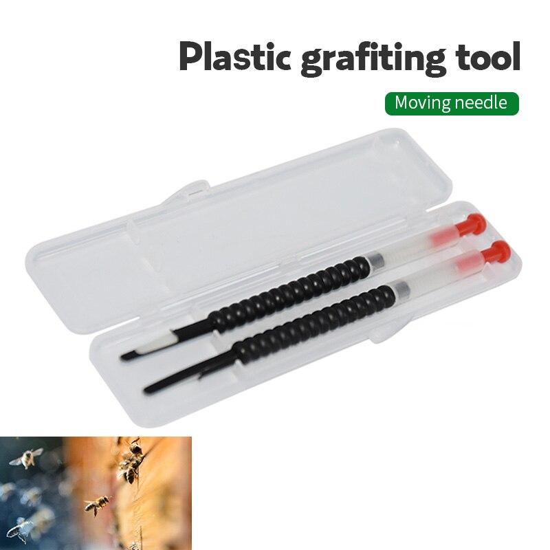 2pcs Beekeeping Tool Move Needle Shift Spring Supplies Plastic Bee Queen Eggs Equipment Larva Retractable Grafting Tool