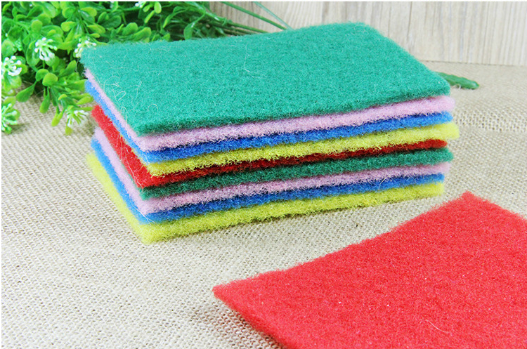 Wonderful 10 Pcs/Set Color High Efficient Scouring Pad Dish Cloth Cleaning Wipers Kitchen  Rags Strong