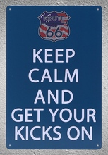 1 piece Route 66 Keep Calm and get your kicks on  Tin Plate Sign wall Room man cave Decoration Art Dropshipping Poster metal