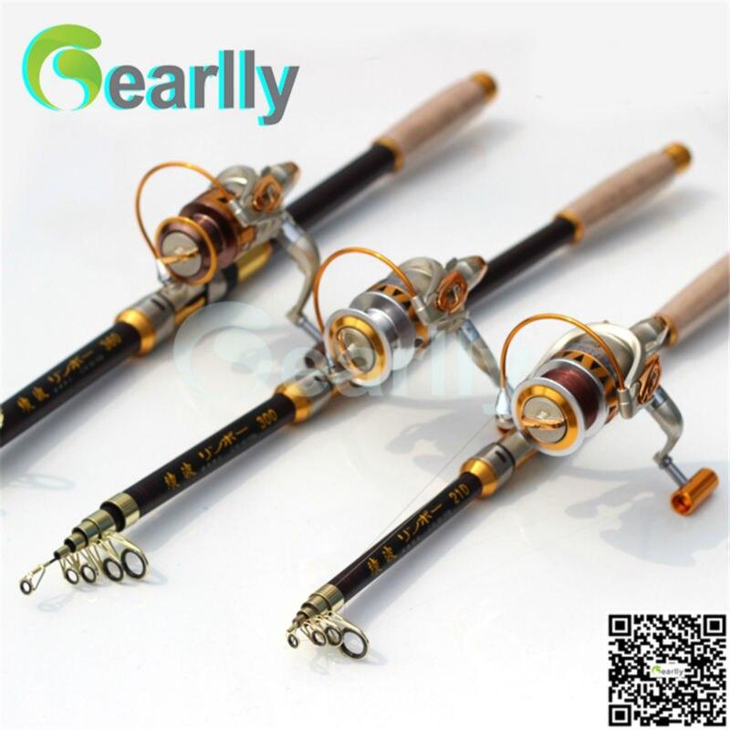 Canne à pêche télescopique portative de mer de 2.1-3.6 M