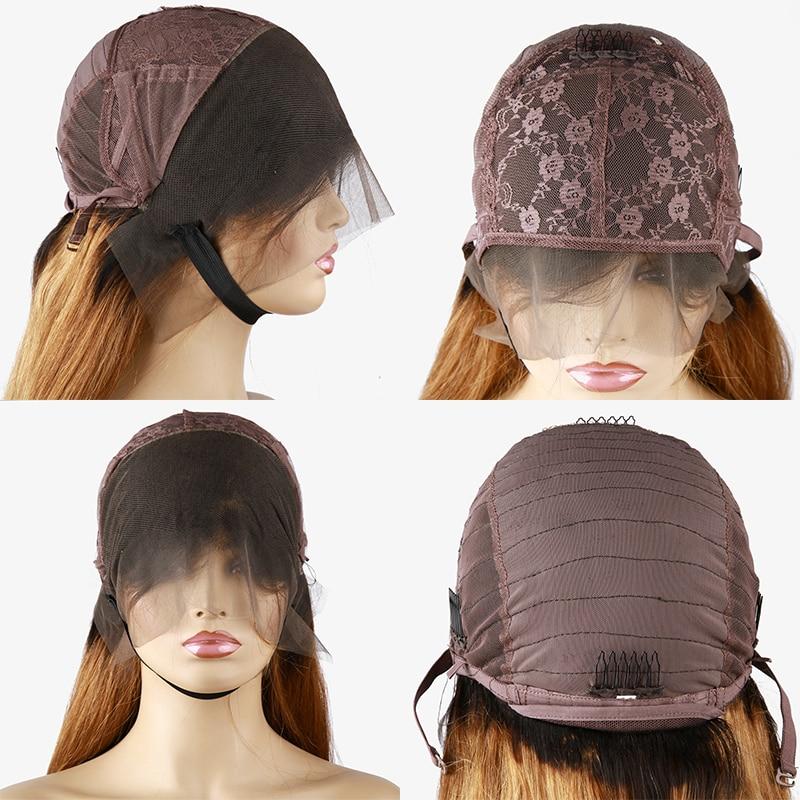 Chaud beauté cheveux 250 haute densité dentelle avant cheveux humains perruques dentelle frontale perruque avec Clip dans Bang droite 1b/613 1b/brun perruques - 6