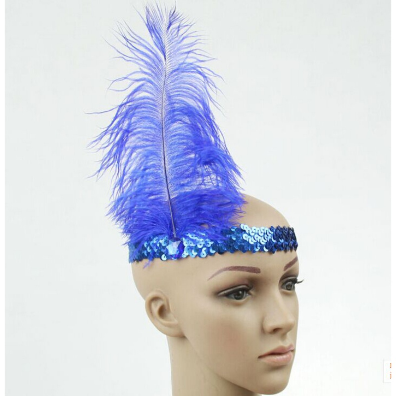 Fashion Feather Headband 1920 Flapper Sequin Headpiece Costume Funny Head Band Party Favor