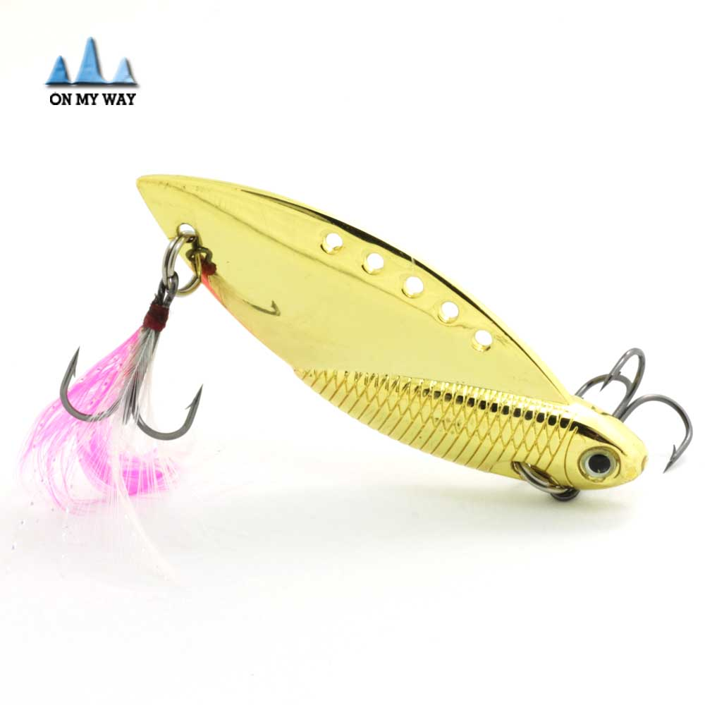 2016 new gold silver metal spinner spoon fishing lure with for Spinner fishing lures