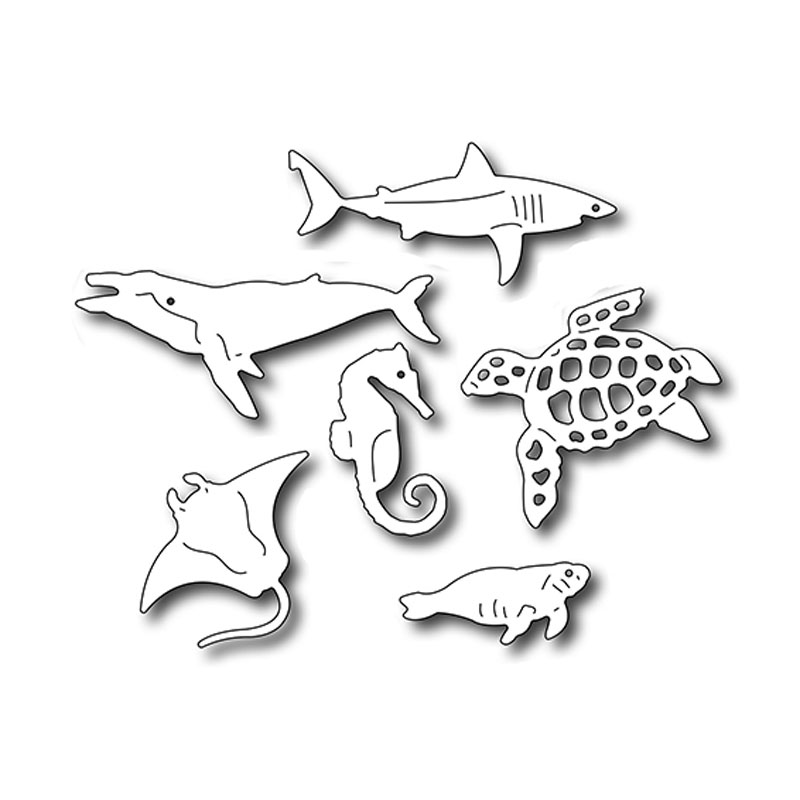 Aliexpress.com : Buy Sea Creatures Icons metal Cutting