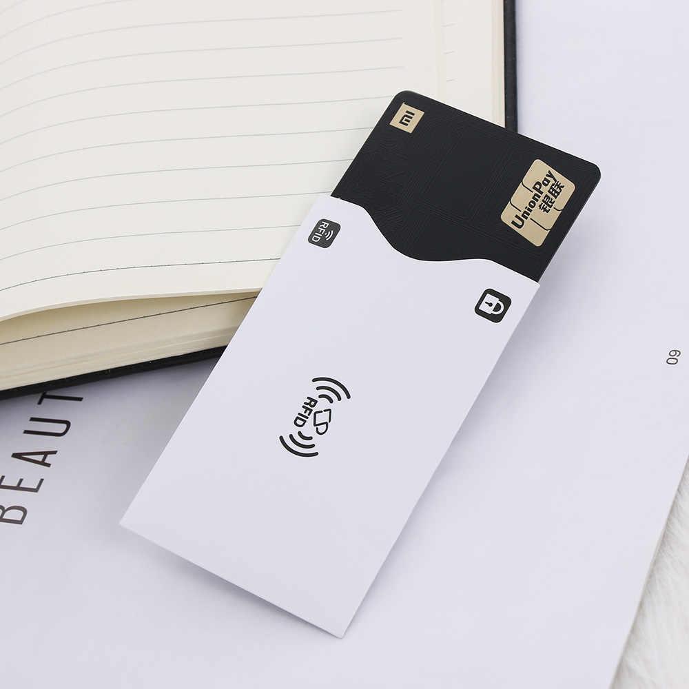 2Pcs Aluminium RFID Card Holder Blocking Bank Anti thief Wallet Protect Case Credit Cards Case Safety Reader Smart Shield Gifts