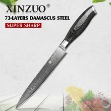 """XINZUO 8 """"zoll hackmesser 73 schichten Japan Damaskus küchenmesser fleisch Sashimi kochmesser mit Farbe holzgriff kostenloser versand"""