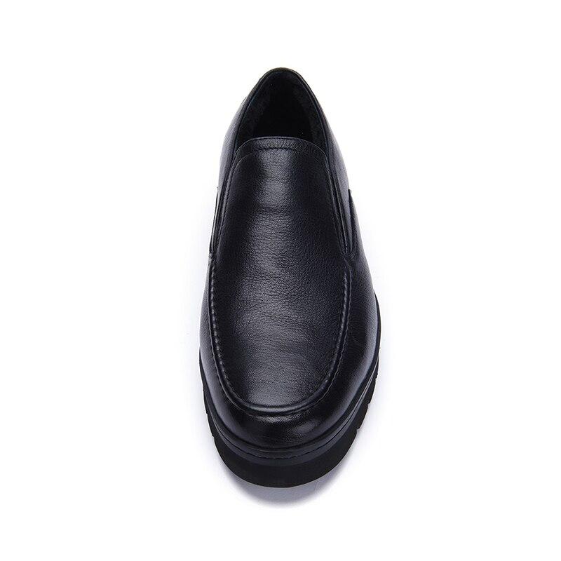 Inverno Homem Lã Forro O Alta Cor Confortável E Vaca Sapatos Quente Qualidade Básicos Black Para Dos Jackmiller Casual Preta De Couro Homens q8fxqF6