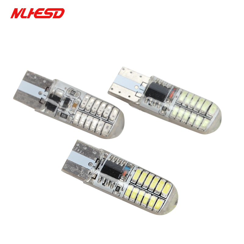 100 x T10 Strobe Flashing 194 W5W LED T10 24SMD 3014 Led Lasting Shine+Auto Strobe Flash Two modes of Operation Car light bulbs