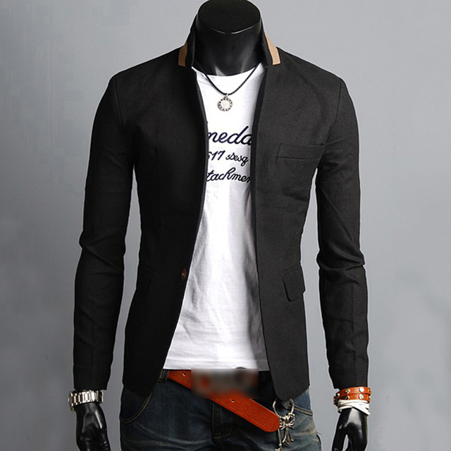 Vestes Hommes Manteau Blazer Costume Décontracté Formelle Un Bouton  D affaires col Manteau Homme Veste d0af5c13854