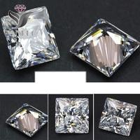 Yeni varış rhinestones 4447 500 adet 4mm unfoiled Kare Beyaz Parlak Kübik Zirkonya Büyük Kristaller DIY Düğün 3D için tırnak Taş
