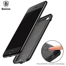Baseus Plaid battery case External Backup for iphone 7 7plus 5000mAh &7300mAh Backpack Power Bank charger phone Case Cover