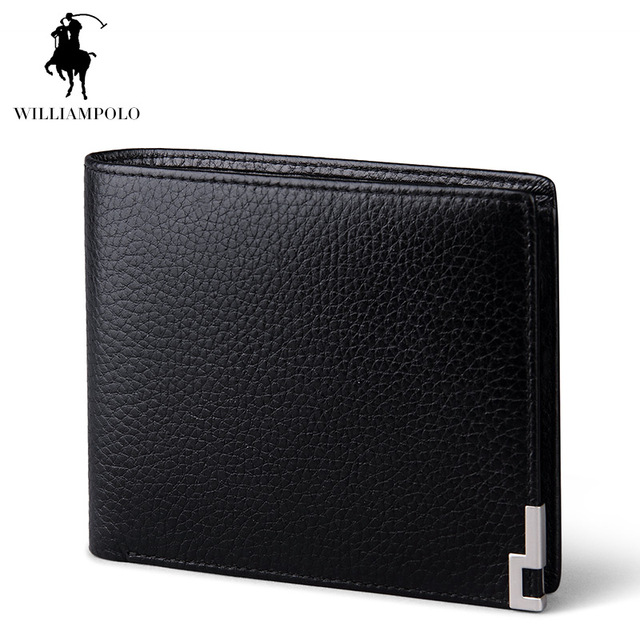 WilliamPOLO 2017 Wallet Designers Brand Business Leather Wallet Loose Leaf Credit Card Holder Wallet Card Black POLO141
