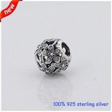 Se adapta a Pandora margarita pulseras de plata con Cubic Zirconia nueva Original 100% 925 plata esterlina encanto de la joyería DIY venta al por mayor