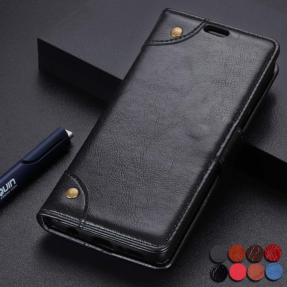 For Nokia 8.1+ nokia 8.1 Business Book Flip phone Case For Nokia 8.1 Plus Leather Wallet Stand Cover With Round Rivets flip case