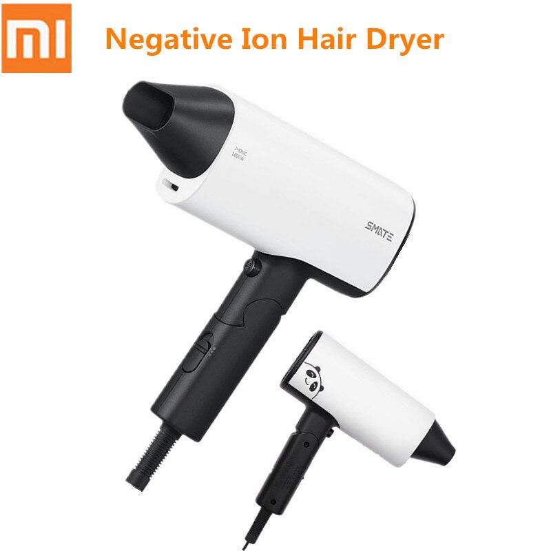Xiaomi Youpin SMATE sèche-cheveux accueil voyage haute puissance/pliage/Ion négatif/froid chaud sèche-cheveux outils 1600 W 220 V