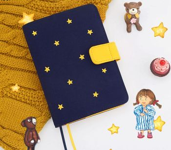 Good Night Cute World Journal Cover A5 A6 Suit For Standard A5/A6 Fitted Paper Book DIY Planner Supply multiple colors simulated leather cover a5 a6 suitable for hobonichi and other standard journal sheets