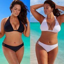 2019 New Plus Size Bikini Set Low Waist Push Up Big Size Swimsuit Swimwear Large Size Bikini Tocas Feminina Bathing Suits XL-4XL