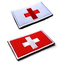 Швейцарский Флаг патч 3D вышивка ткань нарукавная нашивка Наклейки Индивидуальный заказ Тактический нашивки